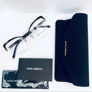 Dolce & Gabbana DG 1305 Half Rim Eyeglasses